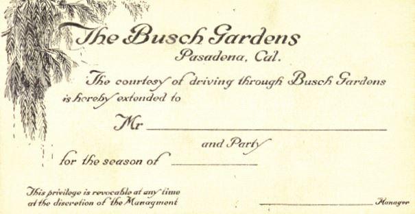 drive through admission ticket-as seen in The Original Busch Gardens by Michael Logan