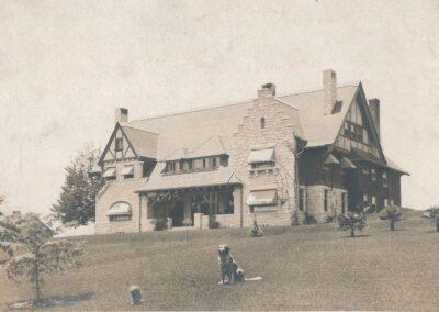 The original Busch Gardens mansion as seen in The Original Busch Gardens by Michael Logan